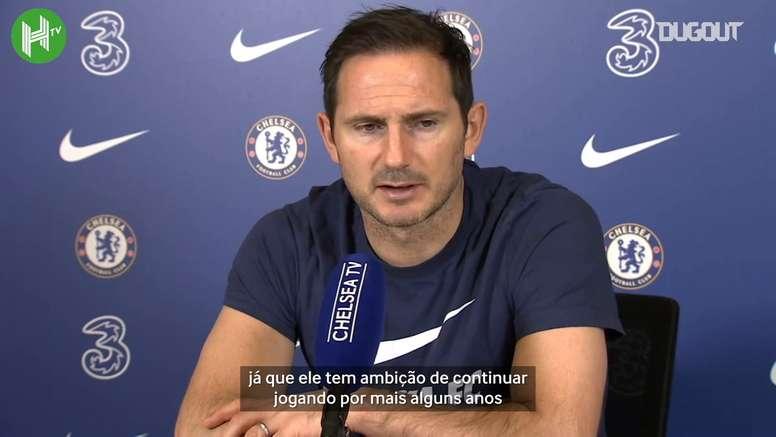 Frank Lampard falou sobre o tratamento diferenciado queThiago Silva vem recebendo no Chelsea. DUGOUT