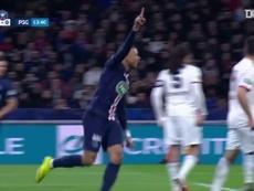 Mbappé marcou três gols sobre o Lyon na semifinal da Copa da França. DUGOUT
