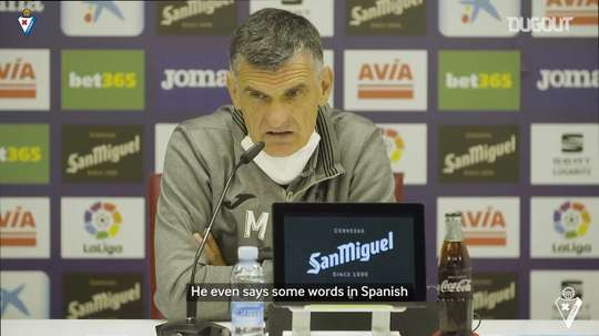 Mendilibar spoke about his new striker. DUGOUT