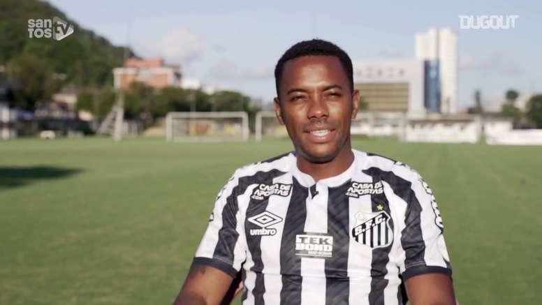 Robinho acertou o seu retorno ao Santos. DUGOUT
