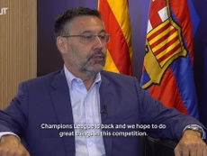 FC Barcelona president Josep Maria Bartomeu talked to 'beIN Sports'. DUGOUT
