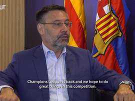 FC Barcelona president Josep Maria Bartomeu talked to 'beIN Sports'. DUGOUT