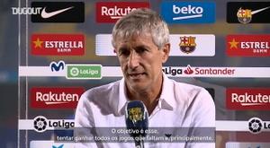 Setién falou após partida contra o Mallorca. DUGOUT