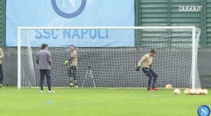 Napoli's last training ahead of AZ Alkmaar clash. DUGOUT