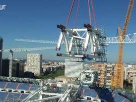 L'avancée des travaux du Santiago Bernabéu. dugout