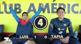 Luis Fuentes y Fernando Tapia se atrevieron con el '7 second challenge'. DUGOUT
