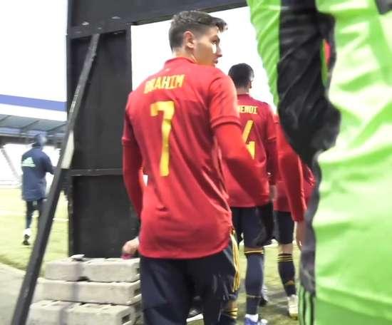 Brahim Diaz netted twice in Spain's 0-2 win away to Faroe Islands. DUGOUT
