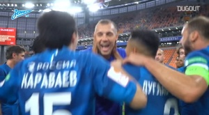 Zenit won the Russian Cup after beating Khimki. DUGOUT