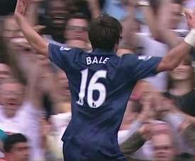Primeiro gol de Gareth Bale pelo Tottenham. DUGOUT