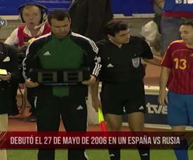 Iniesta made his Spain debut. DUGOUT