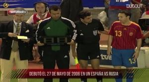 Iniesta made his Spain debut. DUGOUT