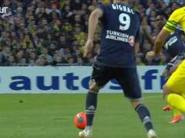 Tous les buts de Thauvin contre Nantes. dugout