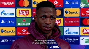 Vinicius admitted Real Madrid needed to improve after losing to Shakhtar. DUGOUT