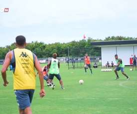 Vasco train ahead of the match against Defensa y Justicia. DUGOUT