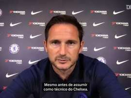 Lampard celebra chegada de Timo Werner ao Chelsea. DUGOUT