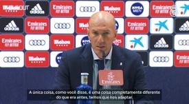 Zidane viu queda de rendimento no segundo tempo, mas exaltou a atuação da primeira etapa. DUGOUT