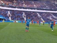 Azmoun scored a hat-trick for Zenit. DUGOUT
