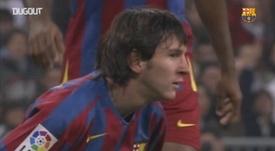 Messi se presentó en sociedad en un 'Clásico'. DUGOUT