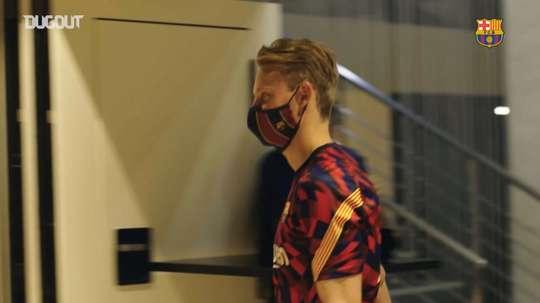 A behind the scenes look as Barca beat Villarreal 4-0 in La Liga. DUGOUT