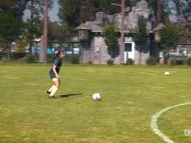 Club América Femenil's shooting challenge. DUGOUT