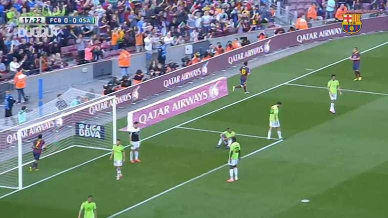 Barcelona beat Osasuna 7-0. DUGOUT