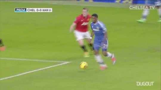Le triplé d'Eto'o contre Manchester United. dugout