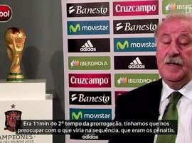 Vicente del Bosque recorda gol de Iniesta na final da Copa. DUGOUT