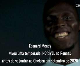 Édouardy Mendy foi colega de Petr Cech no Rennes. DUGOUT