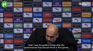 Pep sees all the positives in recent performances. DUGOUT