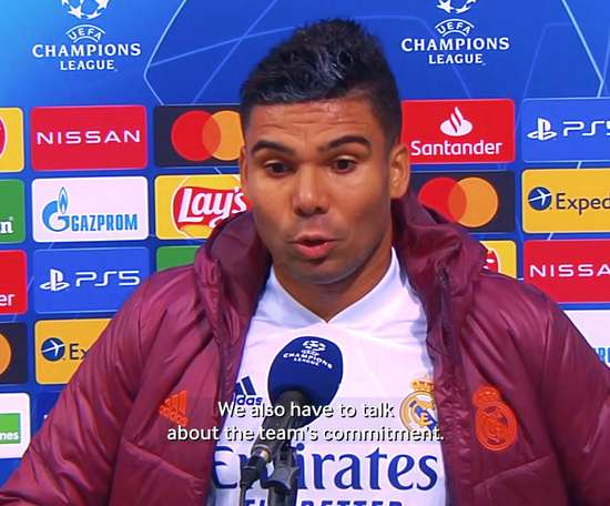 Casemiro: 'This crest teaches you never to give up'. DUGOUT