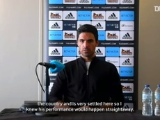 Arteta spoke after the match. DUGOUT