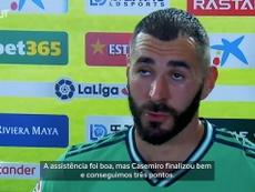 Benzema exalta Casemiro após gol decisivo em vitória do Real Madrid. DUGOUT