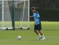 Ruben Dias' first Man City training session. DUGOUT