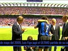 Figo colgó las botas el 31 de mayo del 2009. DUGOUT