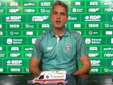 Rodrigo Santana acredita que o Coxa vai reverter a situação complicada no Brasileirão. DUGOUT