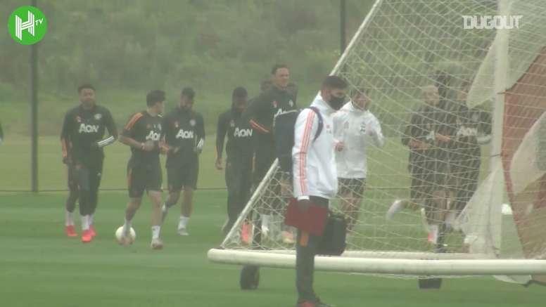 Veja o treino do United antes do jogo contra o LASK. DUGOUT