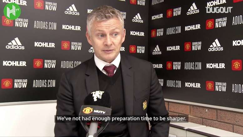 Solskjaer spoke after the match. DUGOUT
