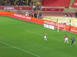 Mbappé faz doblete contra o Mônaco. DUGOUT