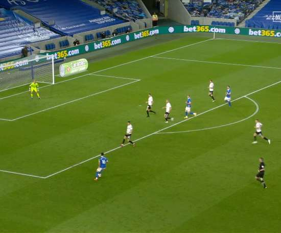 Jahanbakhsh scored a cracking goal in Brighton's 4-0 victory over Portsmouth. DUGOUT