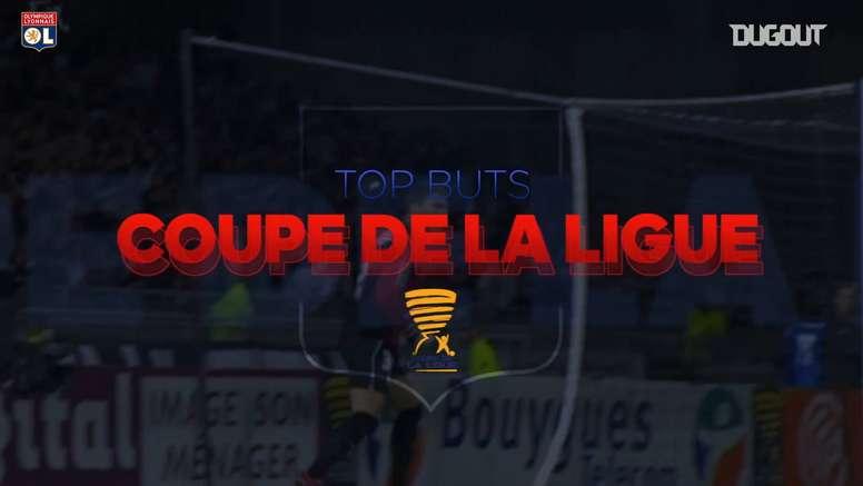 Los goles del Lyon en la Copa de la Liga. DUGOUT