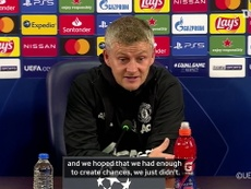 Solskjaer was not happy with Man Utd's defending in loss to Basaksehir. DUGOUT