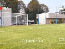Club América Femenil's practice penalties. DUGOUT