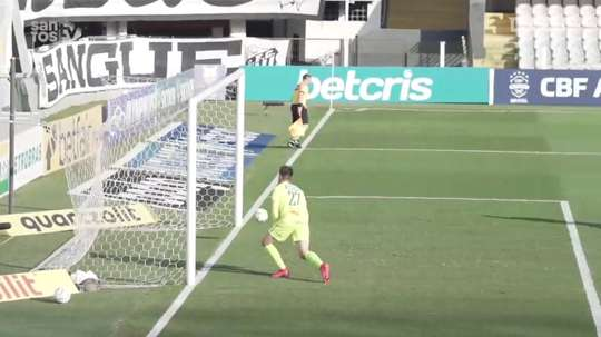 Santos beat Sport Recife at Vila Belmiro. DUGOUT