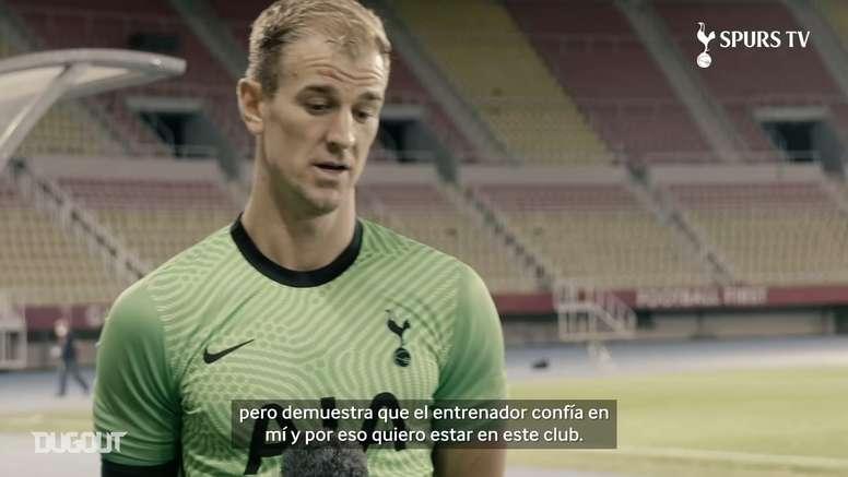 Hart criticó el cargado calendario del Tottenham. Captura/Dugout