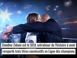 Les succès de Zinedine Zidane au Real Madrid. DUGOUT