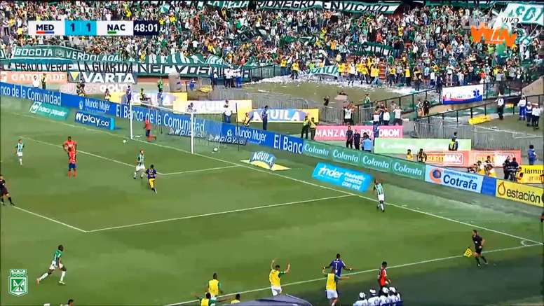 Candelo put Atletico Nacional in front in the second half. DUGOUT