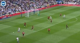 Brighton beat Man Utd by the odd goal in five. DUGOUT