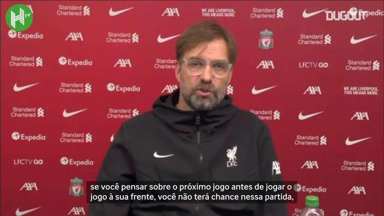 Jürgen Klopp enfrentará os líderes da Premier League sem vários atletas importantes. DUGOUT