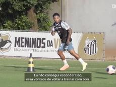 Marinho fala de recuperação da lesão e volta aos treinos. DUGOUT