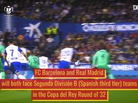 Barcelona and Real Madrid both have lower league opposition in the Copa del Rey. DUGOUT
